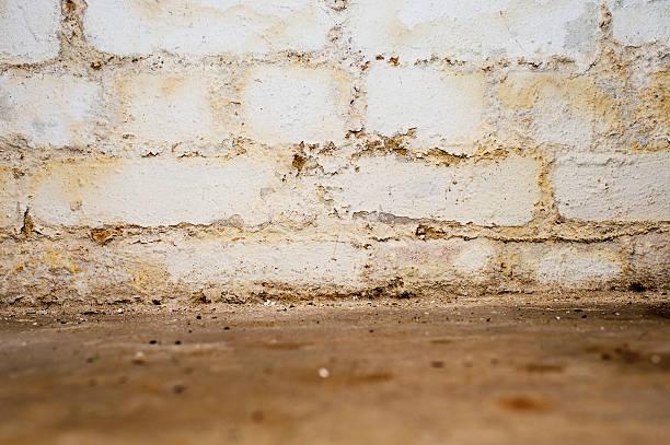 Feuchten Wand in der Tiefgarage – Foto