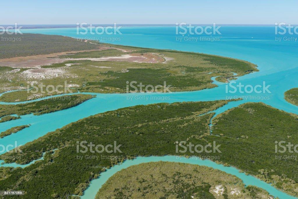 Dampier Creek looking south-east stock photo