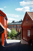 Damstredet road in Oslo Norway during a summer day