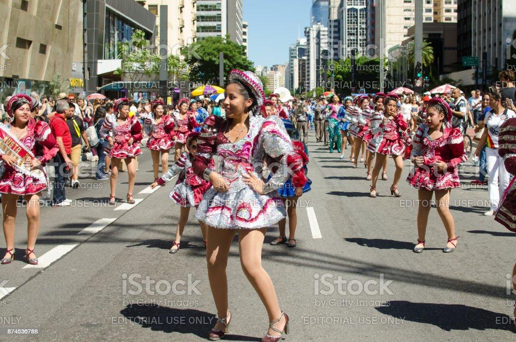 Dança Boliviana stock photo