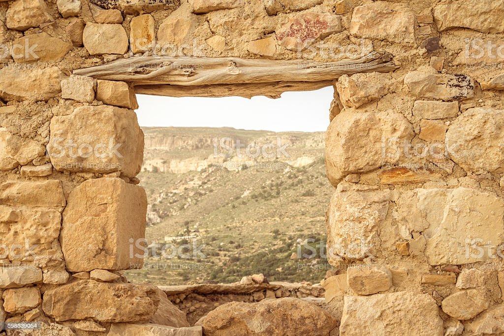 Dana vilage, Dana natrure reserve. in Jordan stock photo