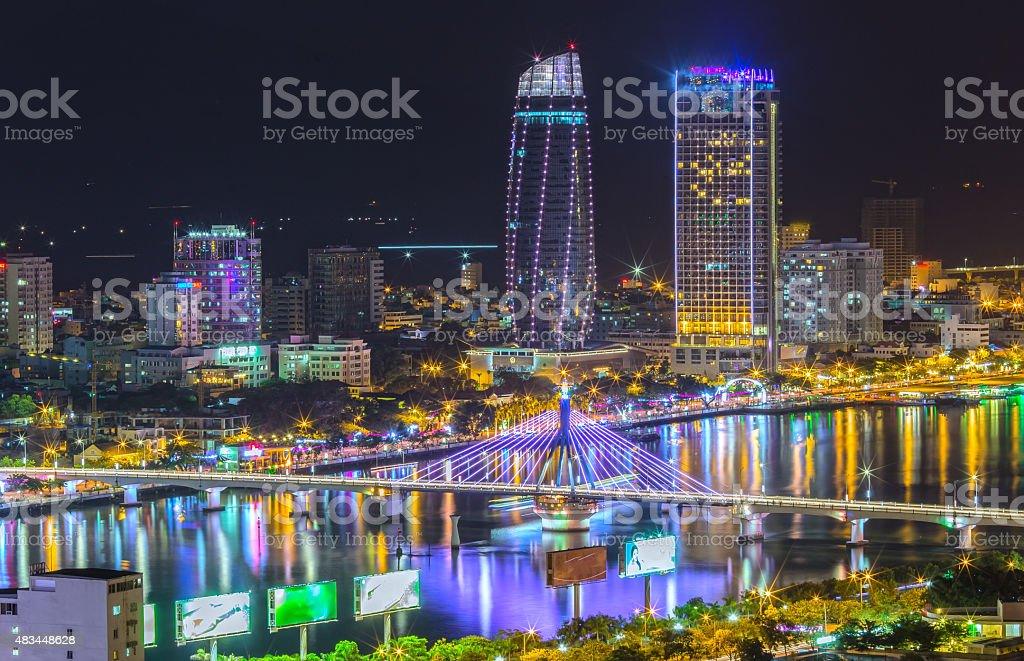 Danang Nachtleben der Stadt – Foto