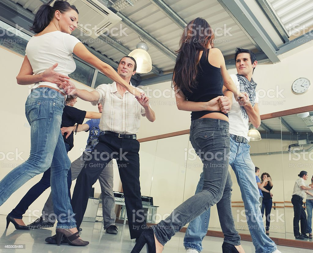 Dance class stock photo