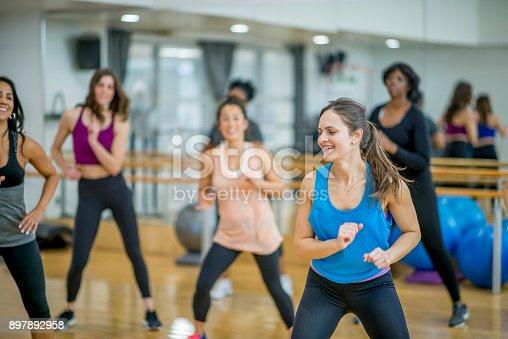 897892972 istock photo Dance Class Workout 897892958