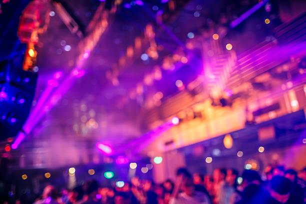 Dance-club mit Lichter Hintergrund – Foto