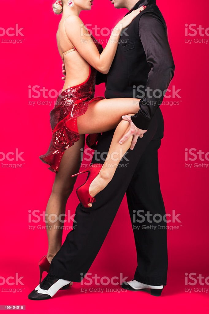 Dance couple in a pose stock photo