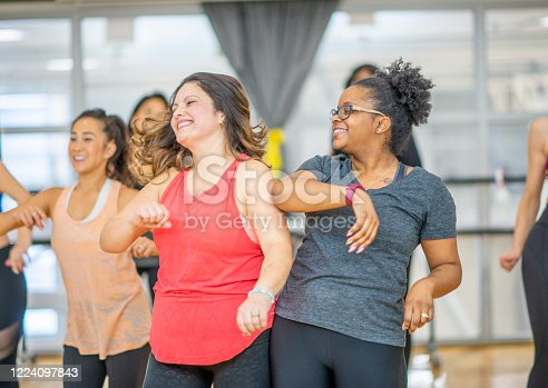 1134374666 istock photo Dance fitness class 1224097843