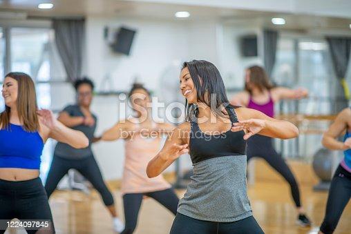 1134374666 istock photo Dance fitness class 1224097845