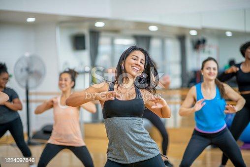 1134374666 istock photo Dance fitness class 1224097846