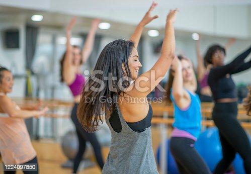 1134374666 istock photo Dance fitness class 1224097850