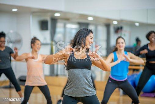 1134374666 istock photo Dance fitness class 1224097852