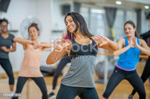 1134374666 istock photo Dance fitness class 1224097853