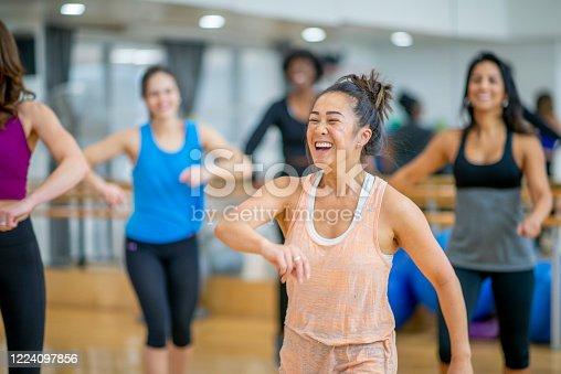 1134374666 istock photo Dance fitness class 1224097856