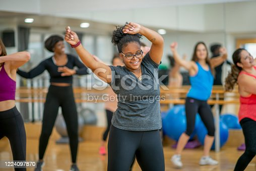 1134374666 istock photo Dance fitness class 1224097870