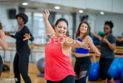 1134374666 istock photo Dance fitness class 1224097873