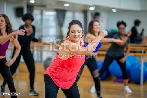 1134374666 istock photo Dance fitness class 1224097875