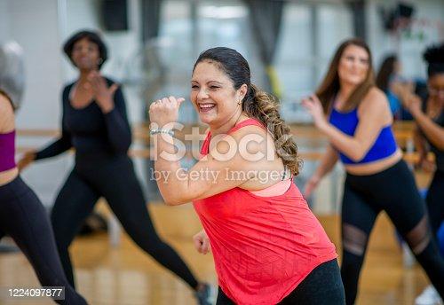 1134374666 istock photo Dance fitness class 1224097877