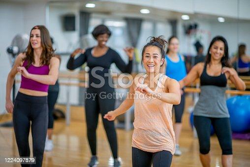 1134374666 istock photo Dance fitness class 1224097879