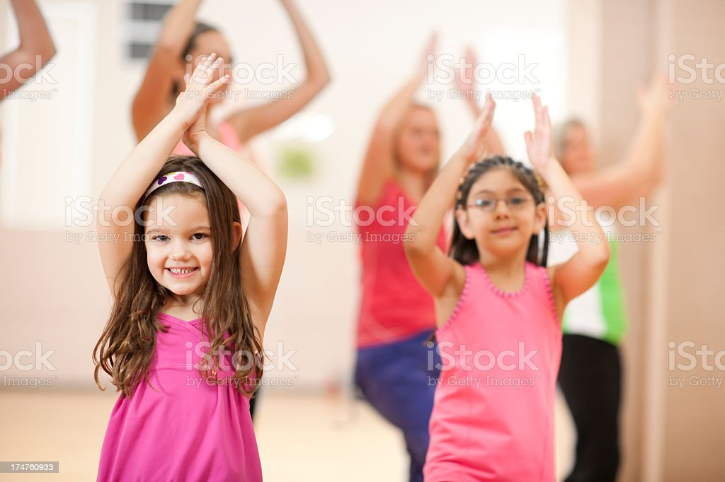 Dance Fitness Class royalty-free stock photo