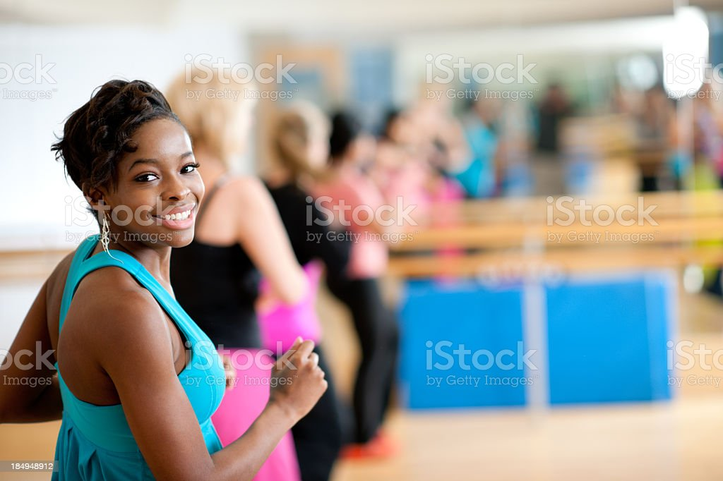 Dance fitness group royalty-free stock photo