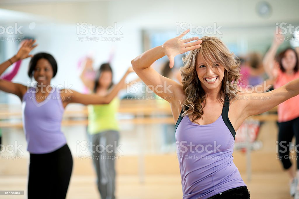 Dance Fitness royalty-free stock photo