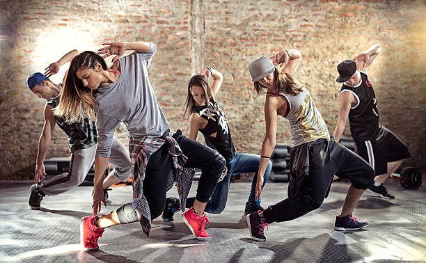 Dance fitness workout stock photo
