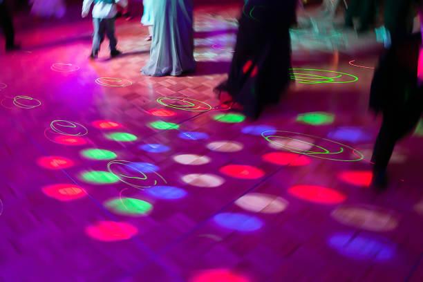 dance floor lights - dance floor stock photos and pictures