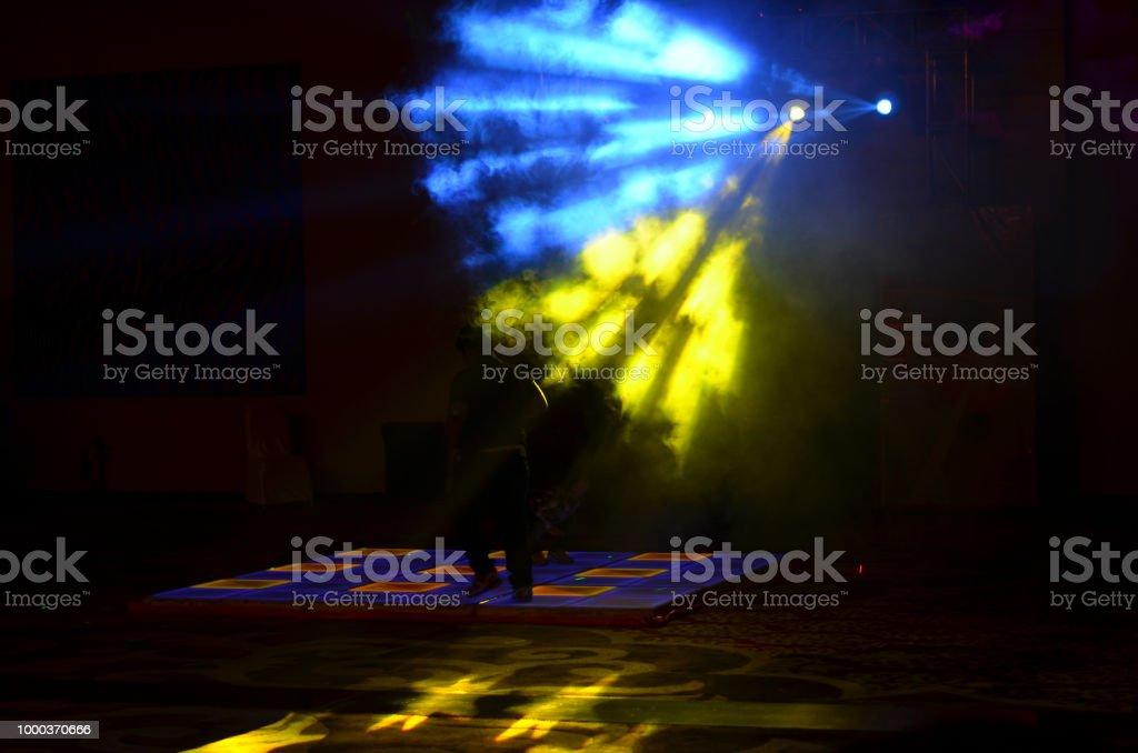 Party dance floor with lighting