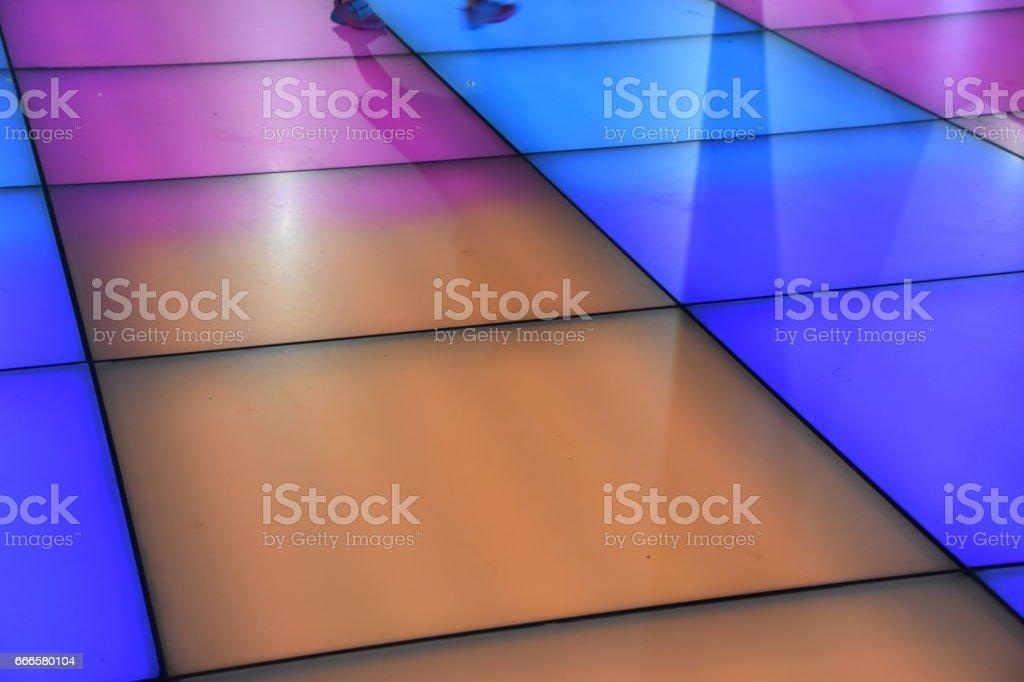 Square colored floor lighting