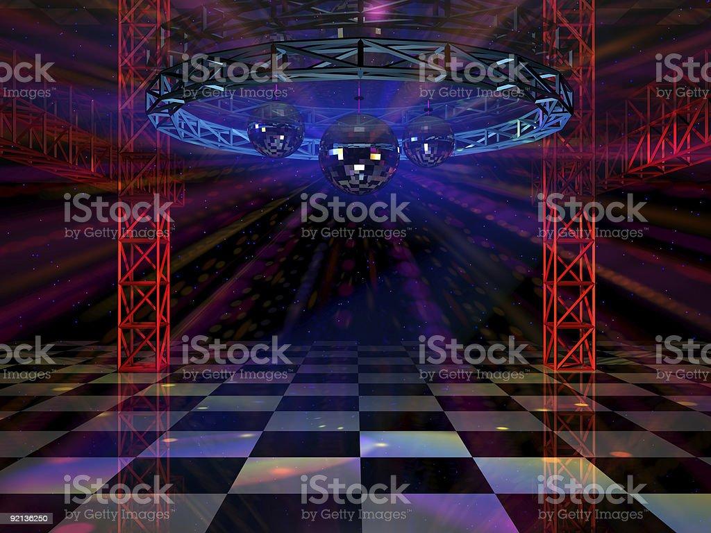 Dance floor stock photo