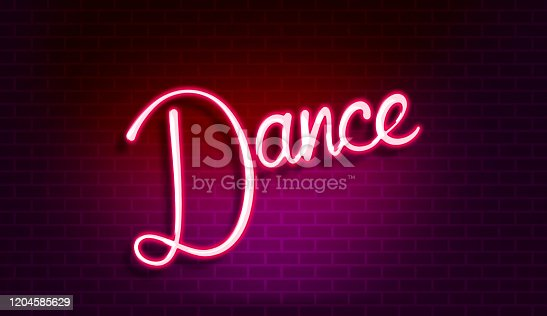 991292404 istock photo Dance Floor wall | Discount sale offer design for advertising campaign | Neon effect 1204585629