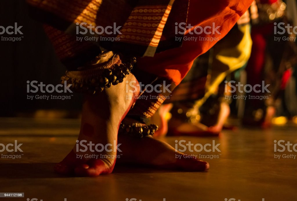dance form indian classical feet with ghungru bharatnatyam katthak stock photo