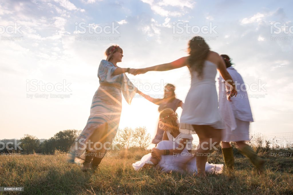 Dance in nature stock photo