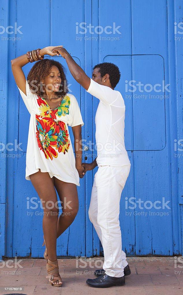 Dance in Trinidad, Cuba stock photo