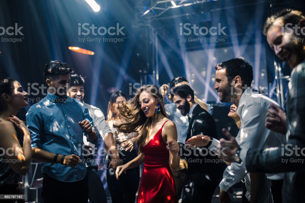 Dance like no one is watching stock photo