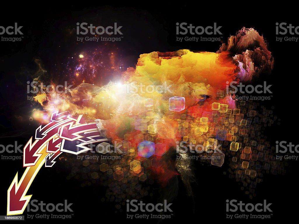 Dance of Design Nebulae royalty-free stock photo
