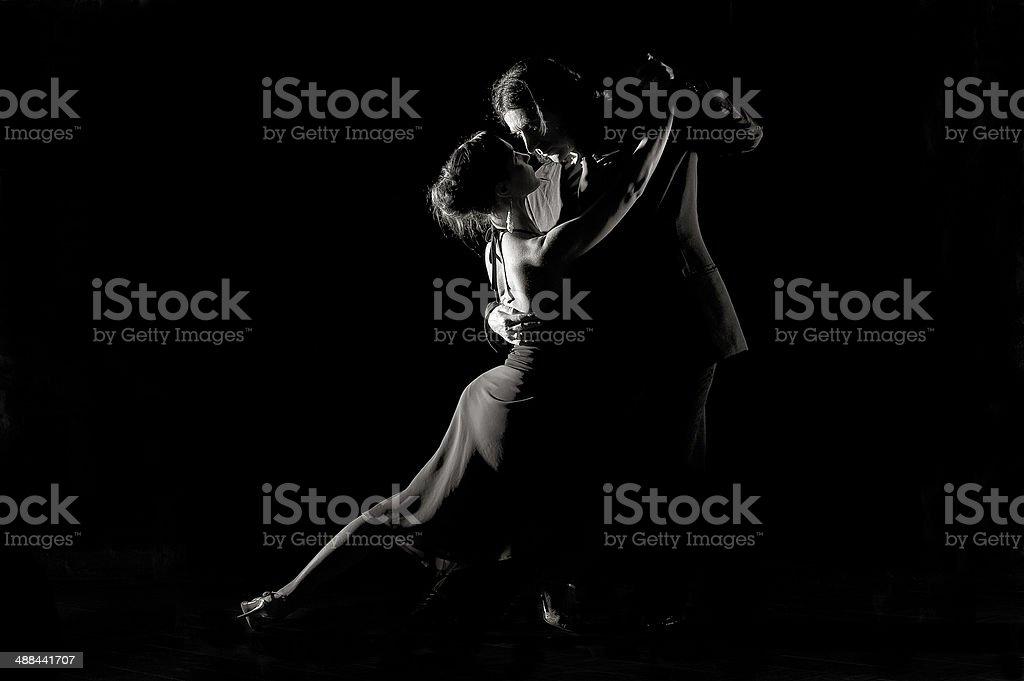Dance of passion Tango stock photo