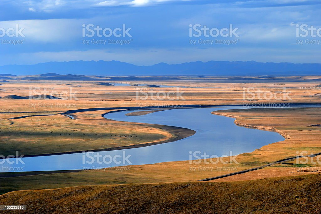Dance of Yellow river stock photo