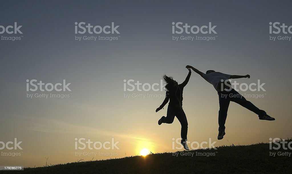 Dance on Slope stock photo