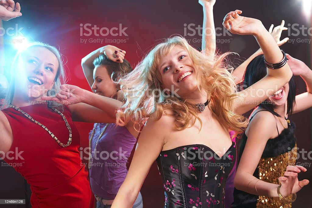 Dance party royalty-free stock photo