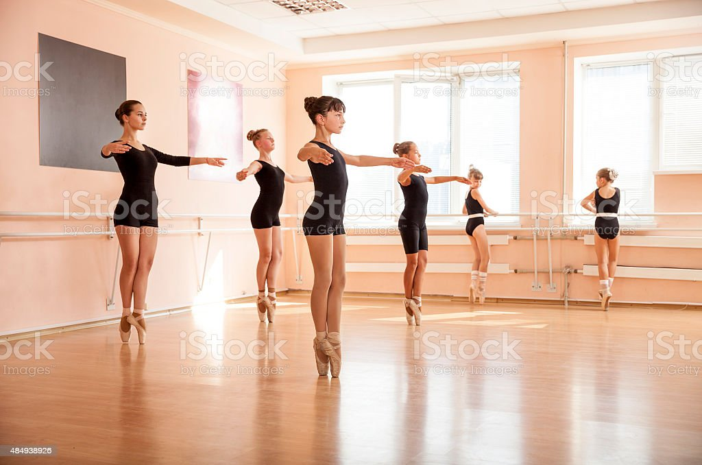 Dance students stock photo