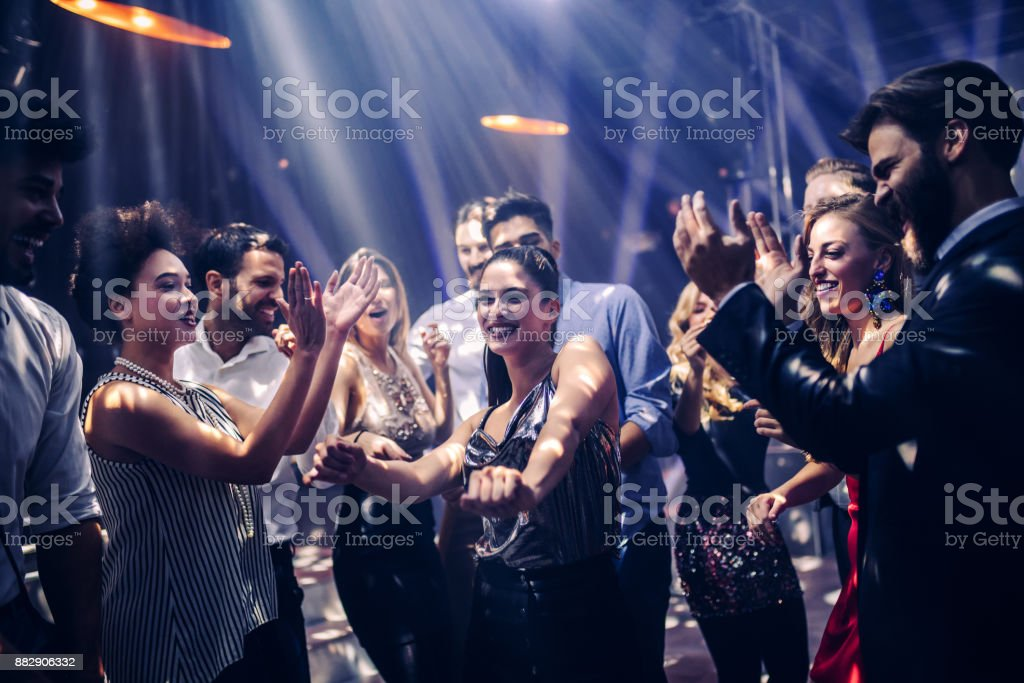 Danser toute la nuit! photo libre de droits