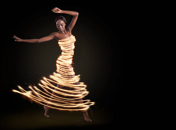Dance to the light in your soul stock photo