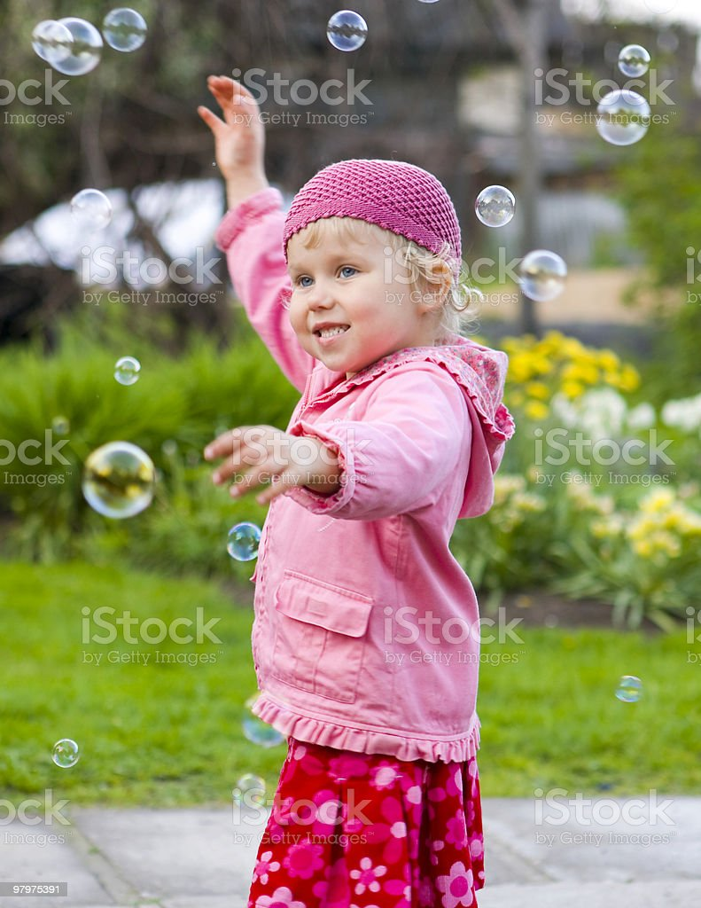 Dance with bubbles royalty-free stock photo