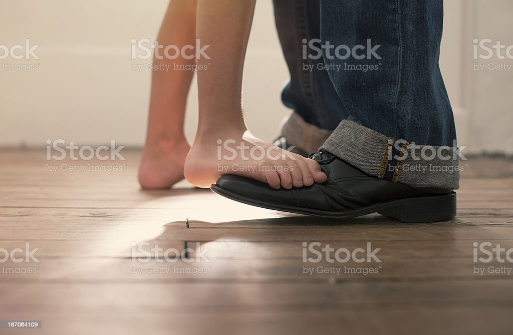 Dance with Me Daddy stock photo