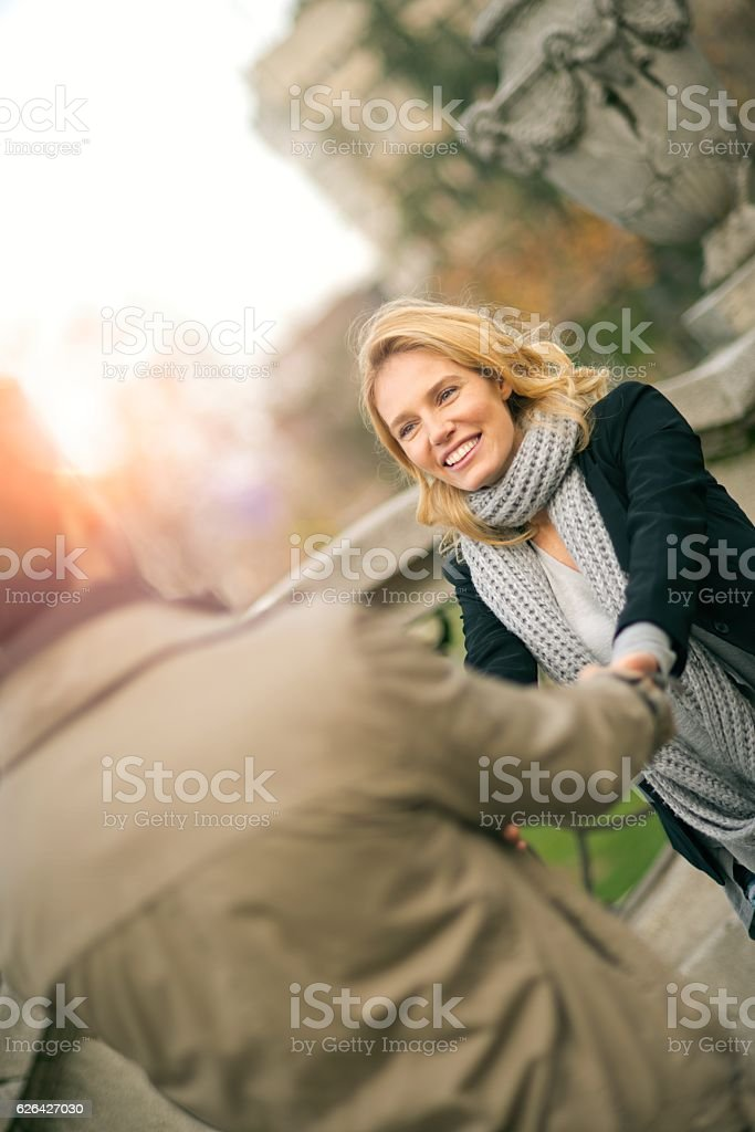 Dance your troubles away. stock photo