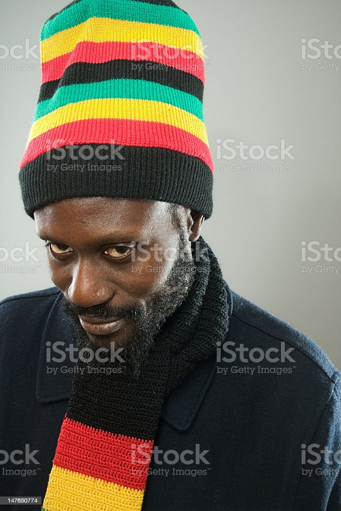 Dancehall rastaman stock photo