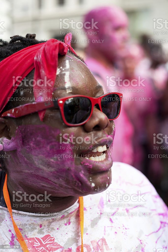 Dancer at Notting Hill Carnival royalty-free stock photo