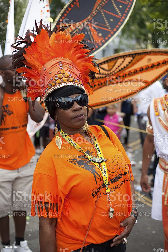 Dancer at Notting Hill Carnival stock photo