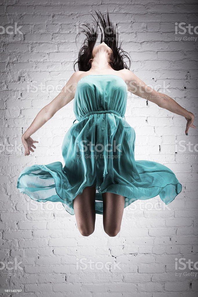 Dancer do angel jump royalty-free stock photo